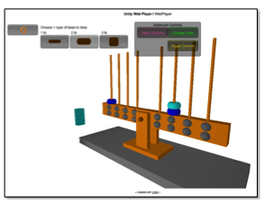 Virtual balance beam used for cognitive task analysis with children
