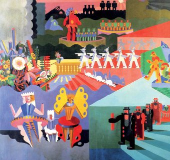 Fortunato Depero's painting showcasing his characters.