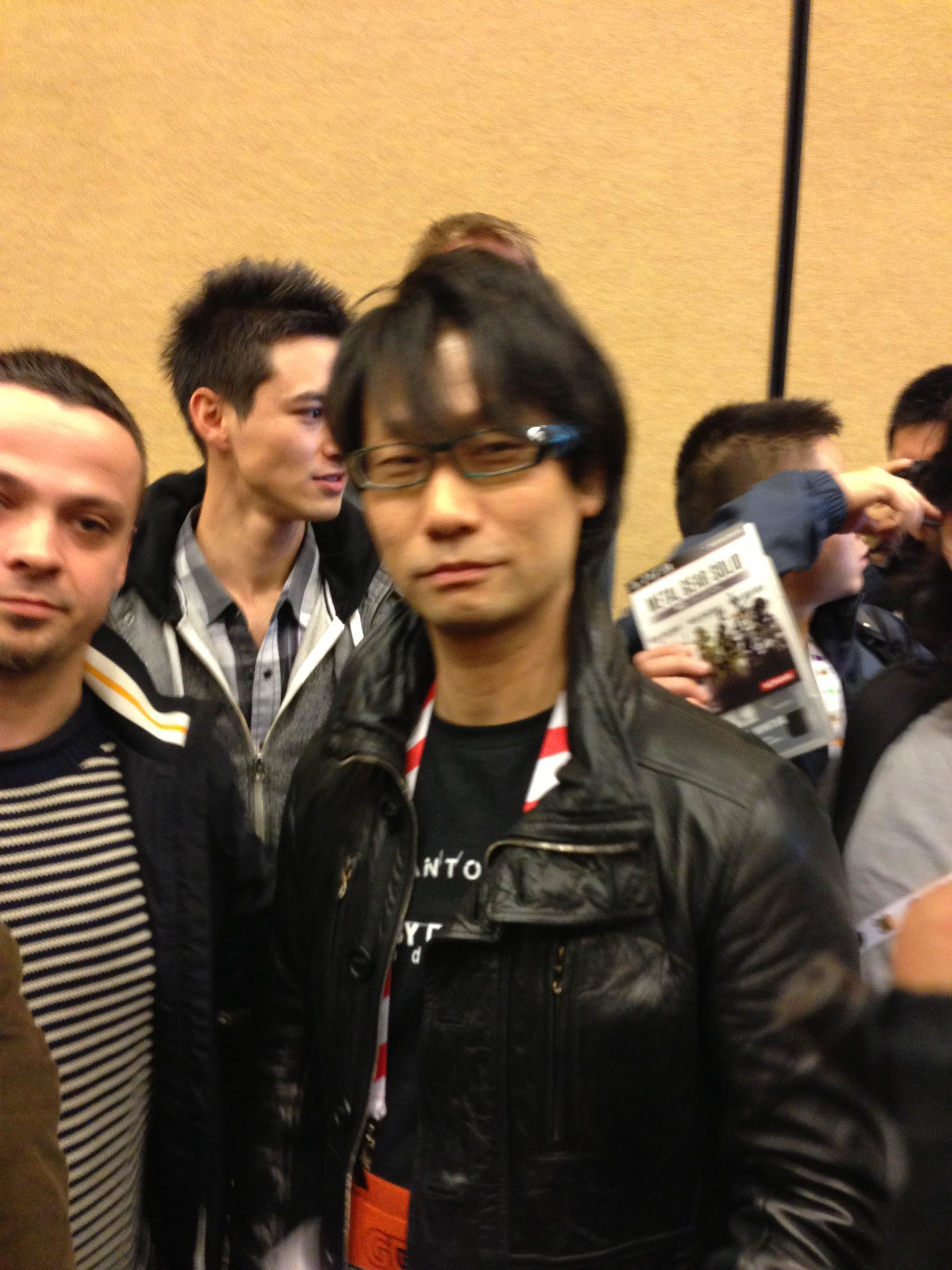 Hideo Kojima, father of Metal Gear, as captured by Shaveen