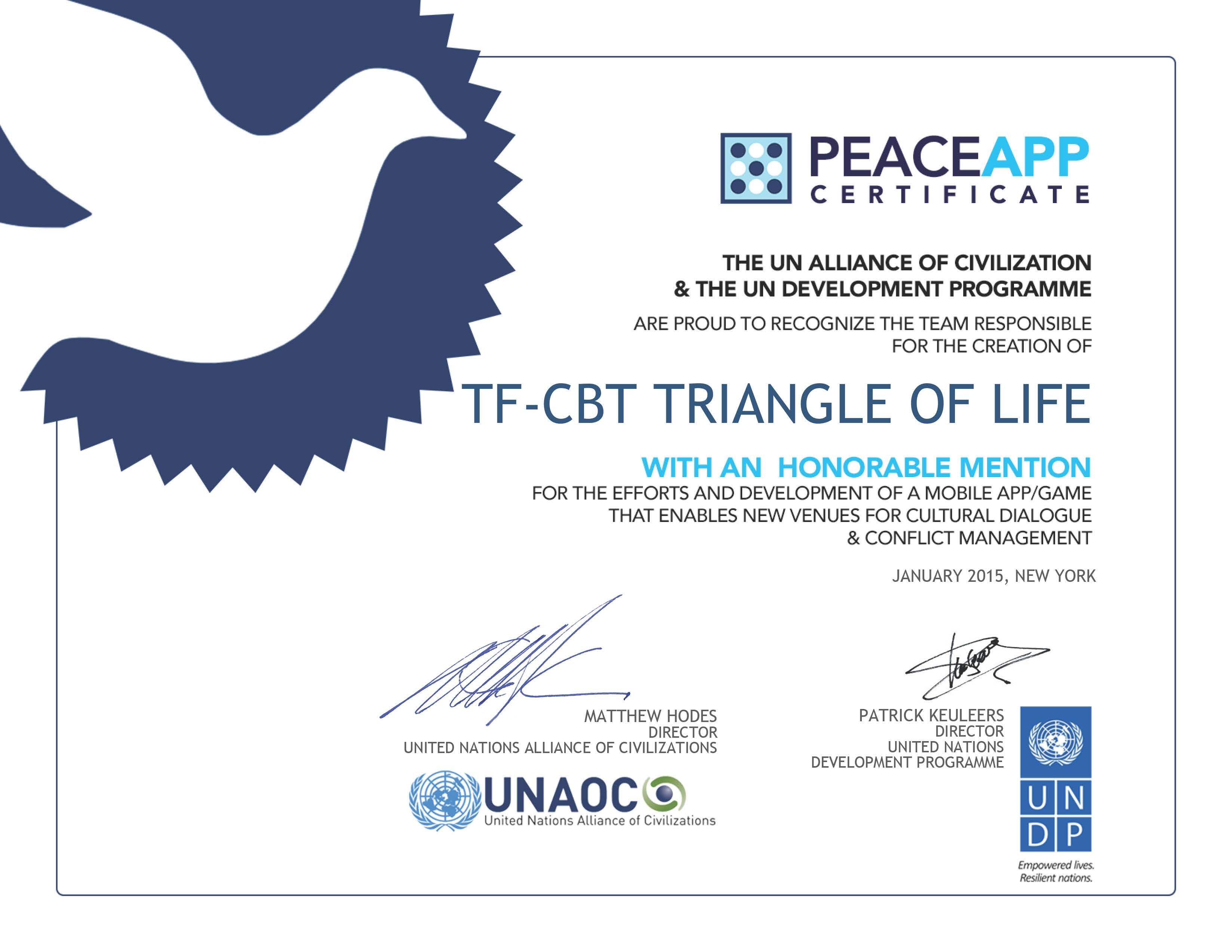 Triangle of Life Certificate