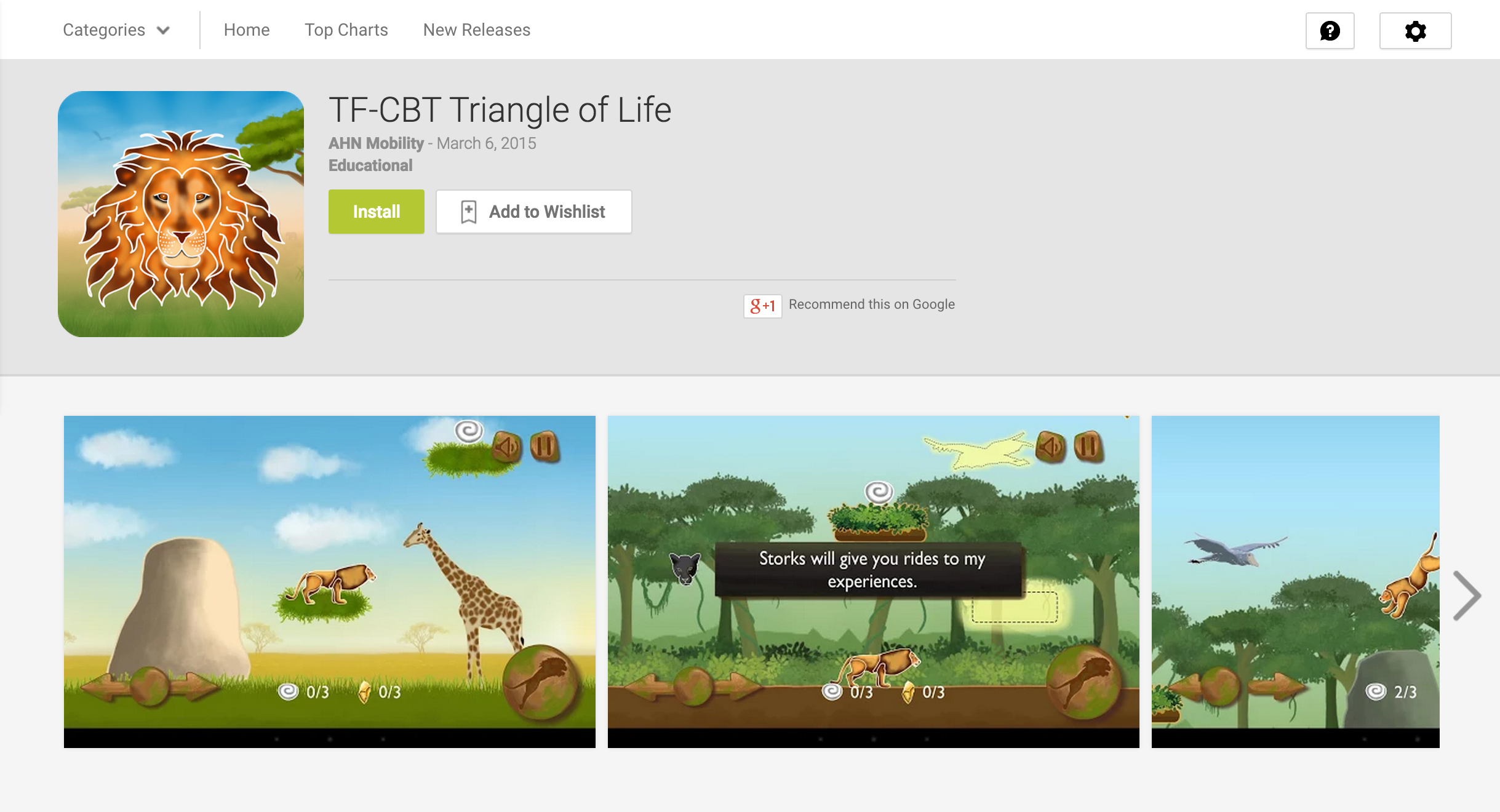 Google Play Store page