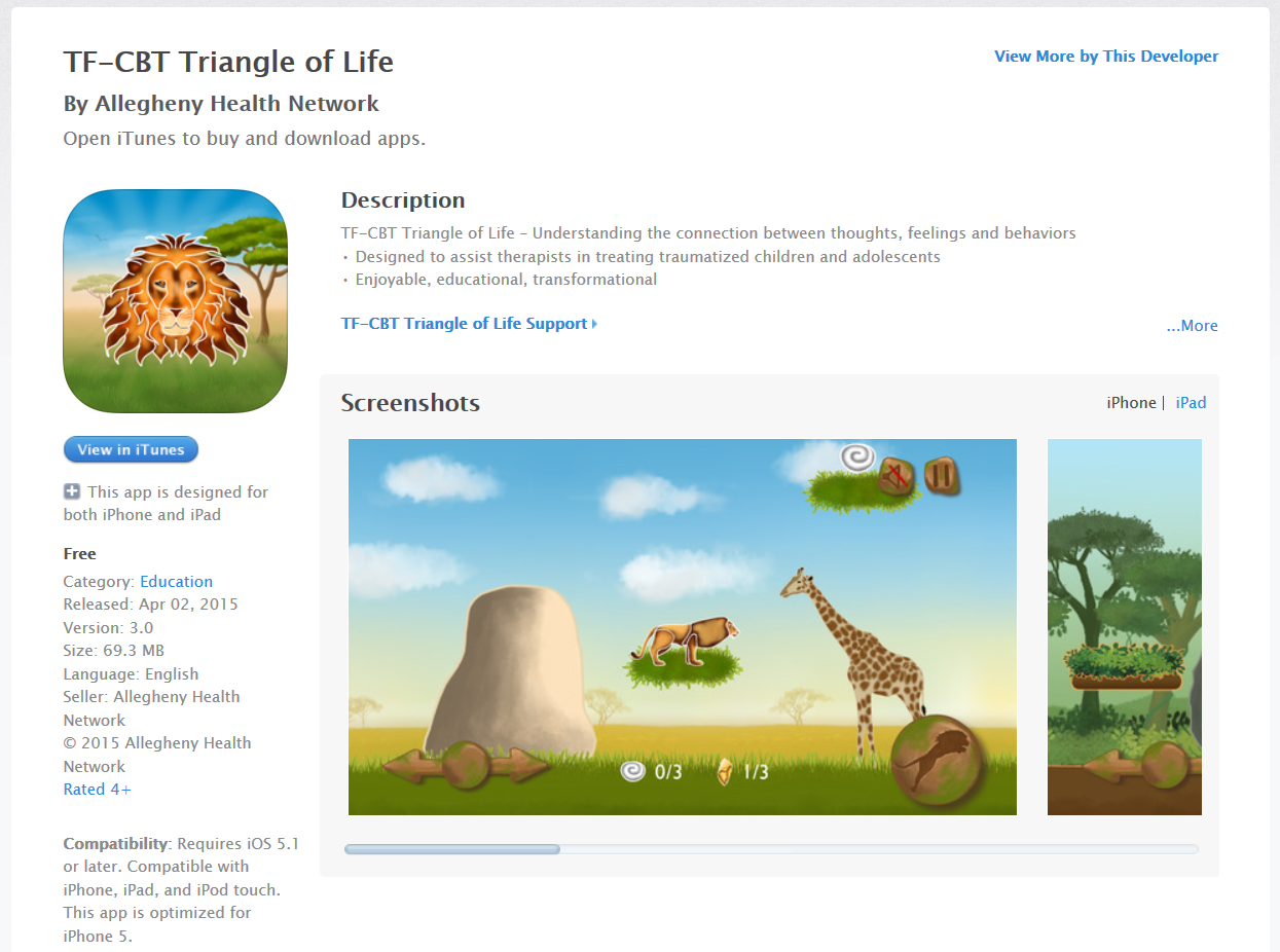 TF-CBT App Store Release
