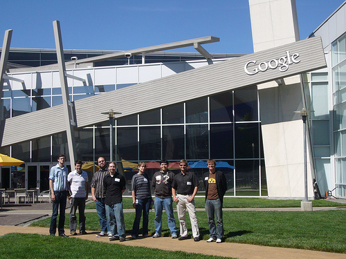 Google Group shot - In front of a cafeteria 