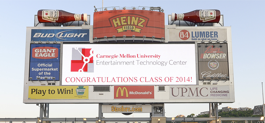 Heinz Field sign congratulating newest Alumni
