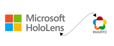 HoloLens and WebRCT